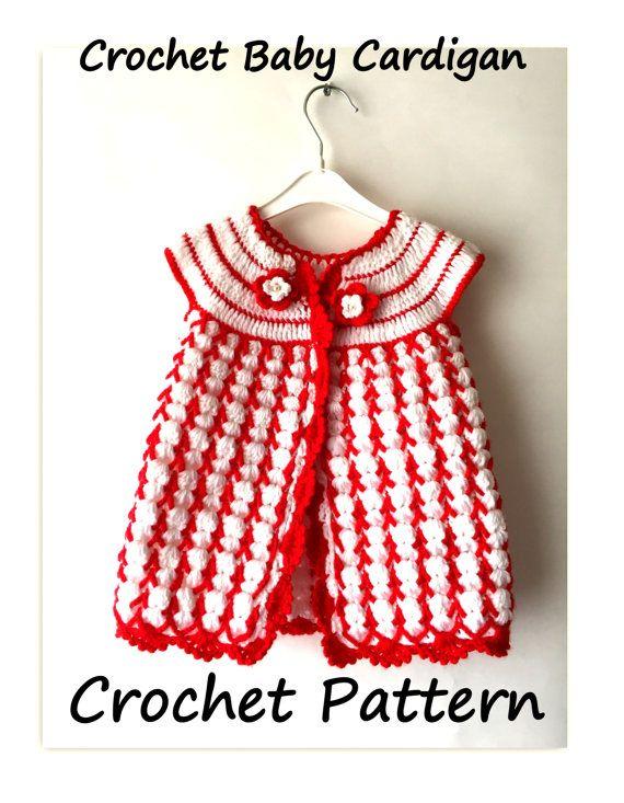 Pattern Crochet Baby Jacket Baby Cardigan By Sandrahandmadeshop