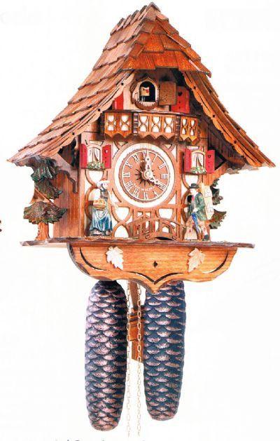 """Schneider 12"""""""" Black Forest Girl and Clock Peddler Cuckoo Clock"""