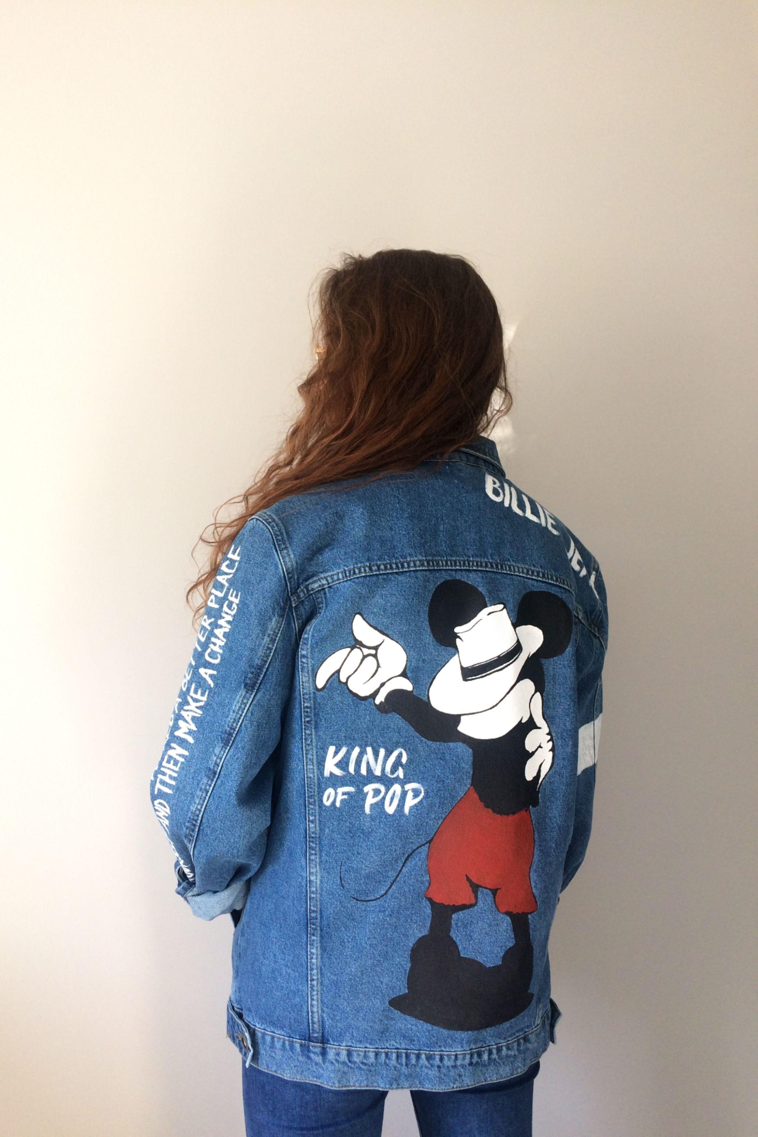 Custom Denim Jacket Michael Jackson Custom Clothes Clothes Outfit Accessories [ 3672 x 2448 Pixel ]