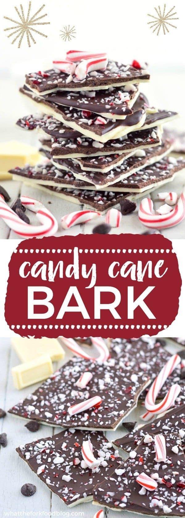 Easy homemade Candy Cane Bark recipe from whattheforkblog