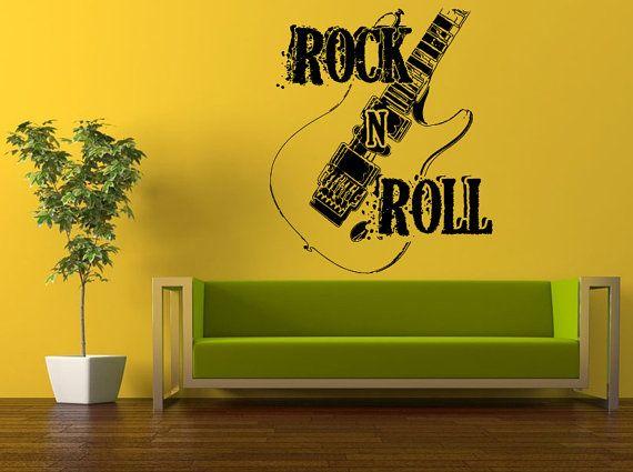 wall decal vinyl sticker decals peal and stick cheap decor art rock