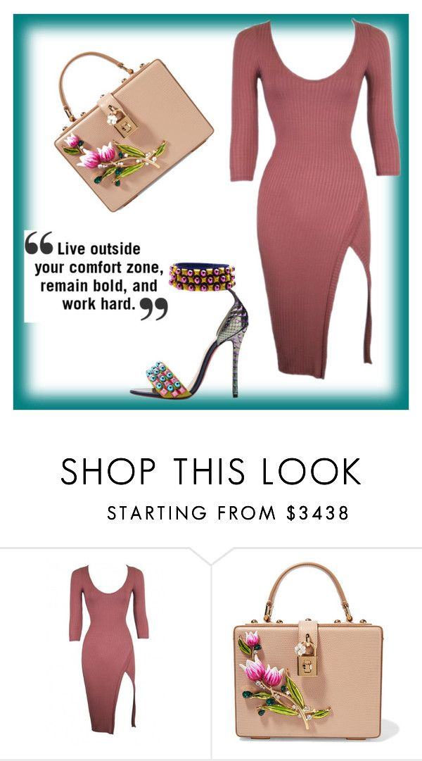 """""""#taking risk🙌🏾"""" by smakena ❤ liked on Polyvore featuring Dolce&Gabbana and Christian Louboutin"""