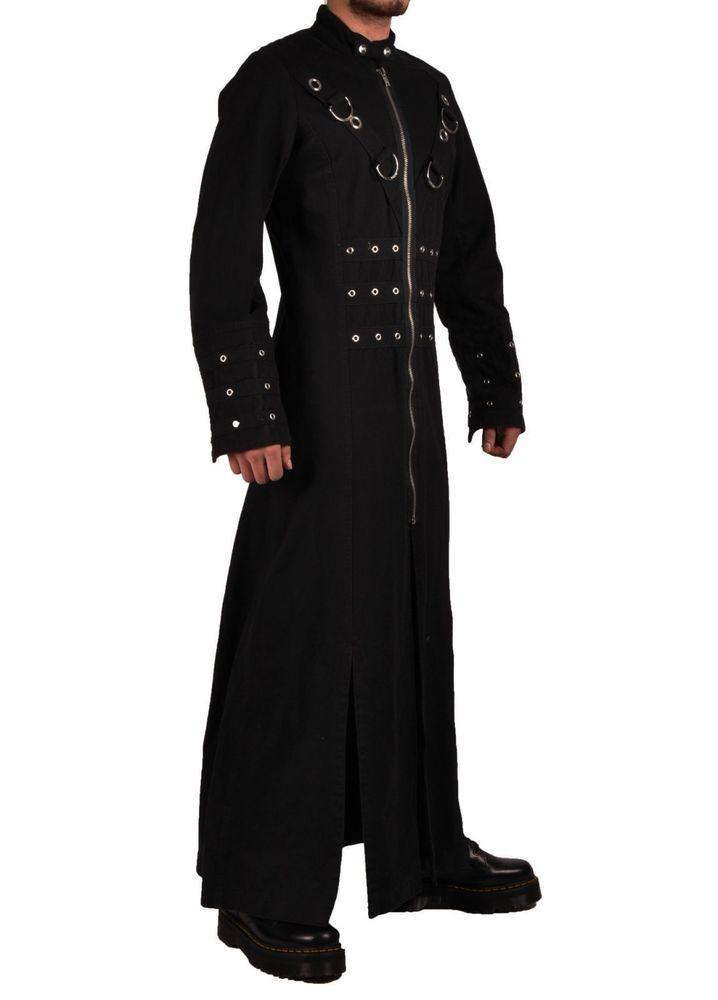7139fb6d4a0 HANDMADE MEN HELLRAISER GOTH PUNK INDUSTRIAL VAMPIRE JACKET TRENCH COAT   Handmade  Trench