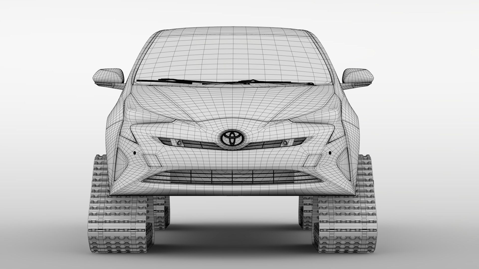Toyota Prius Crawler 2017 Color Aply Change Real Abstract 3d
