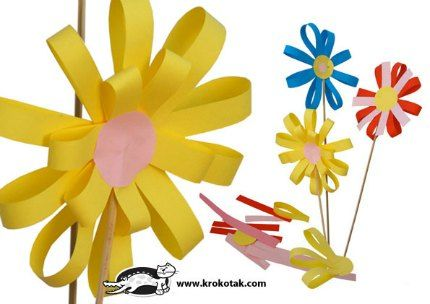 Paper Flowers Crafts With For Kids Waldorf Style