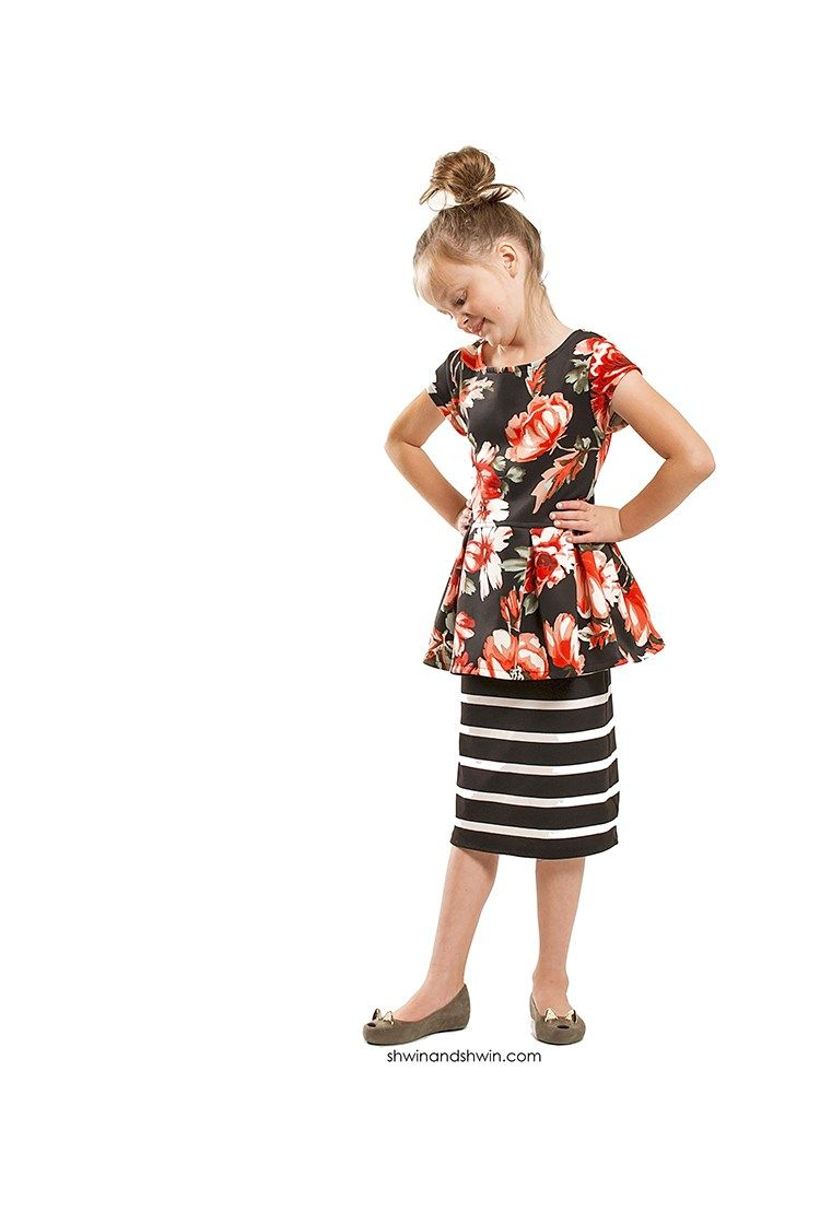Knit Pencil Skirt    FREE Pattern    Shwin&Shwin   Sewing for Little ...