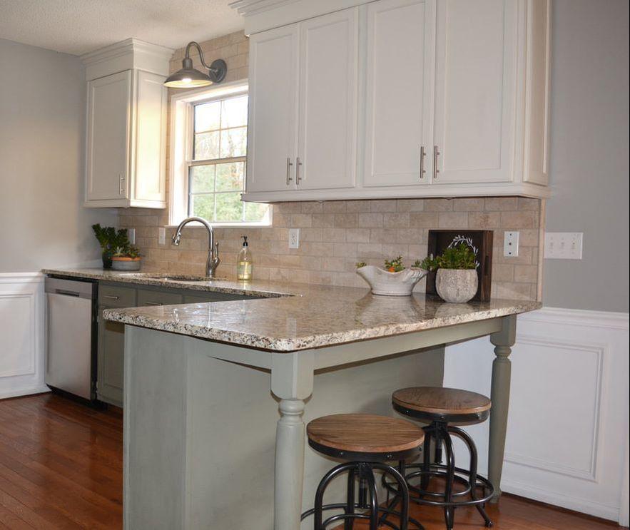 Farmhouse Green Kitchen Cabinets: Farmhouse Two Tone Kitchen Green And White Anew Gray