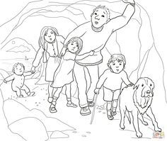 A Narrow Gloomy Cave Coloring Page Supercoloring Com Teddy Bear Coloring Pages Bear Coloring Pages Coloring Pages