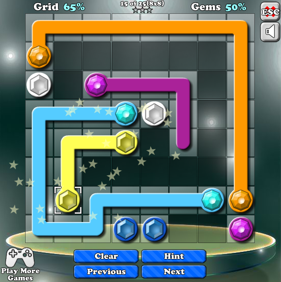 Gemlink Connect all identical gems and fill up the grid