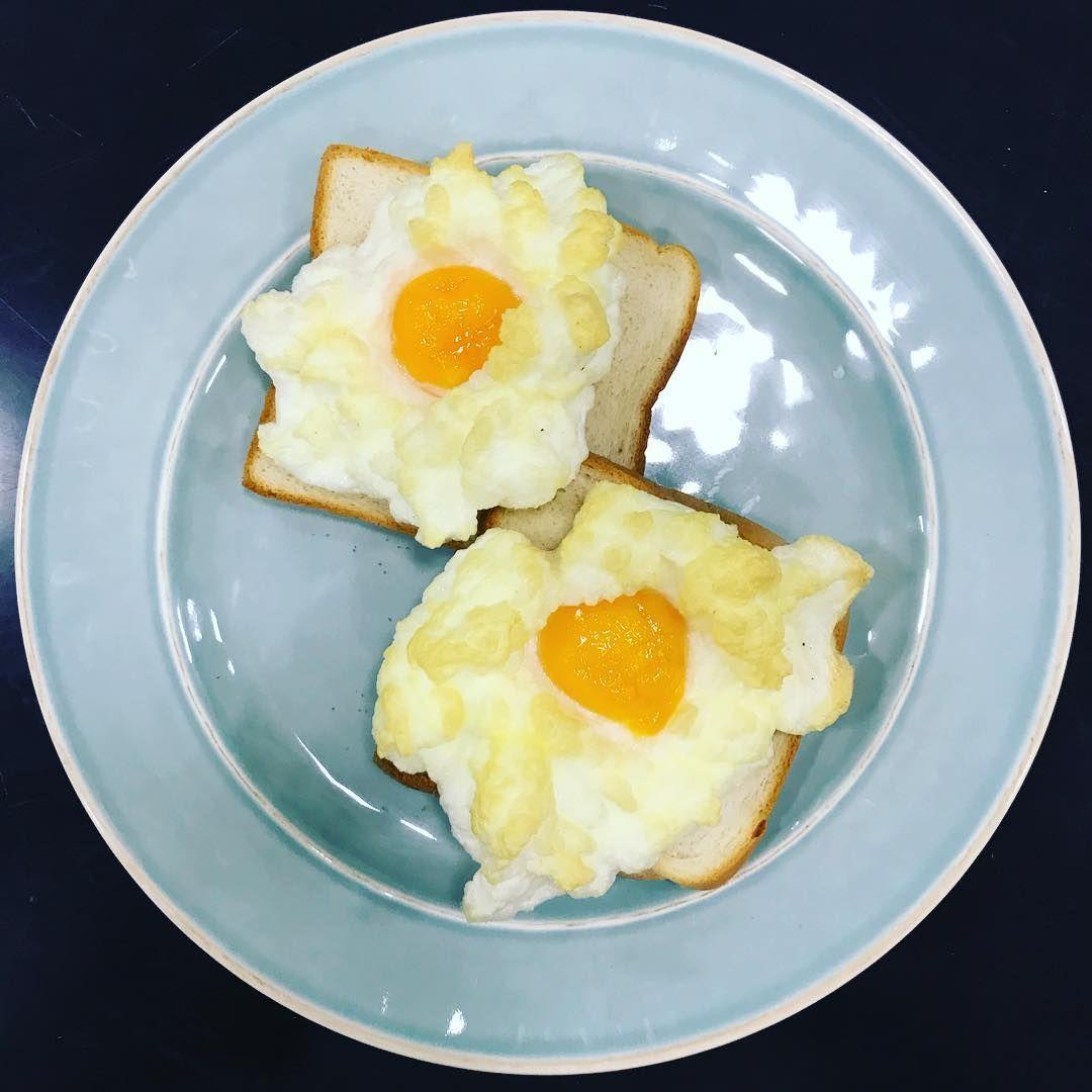 I love making cloud eggs #eggs#cloudeggs #cloudeggs