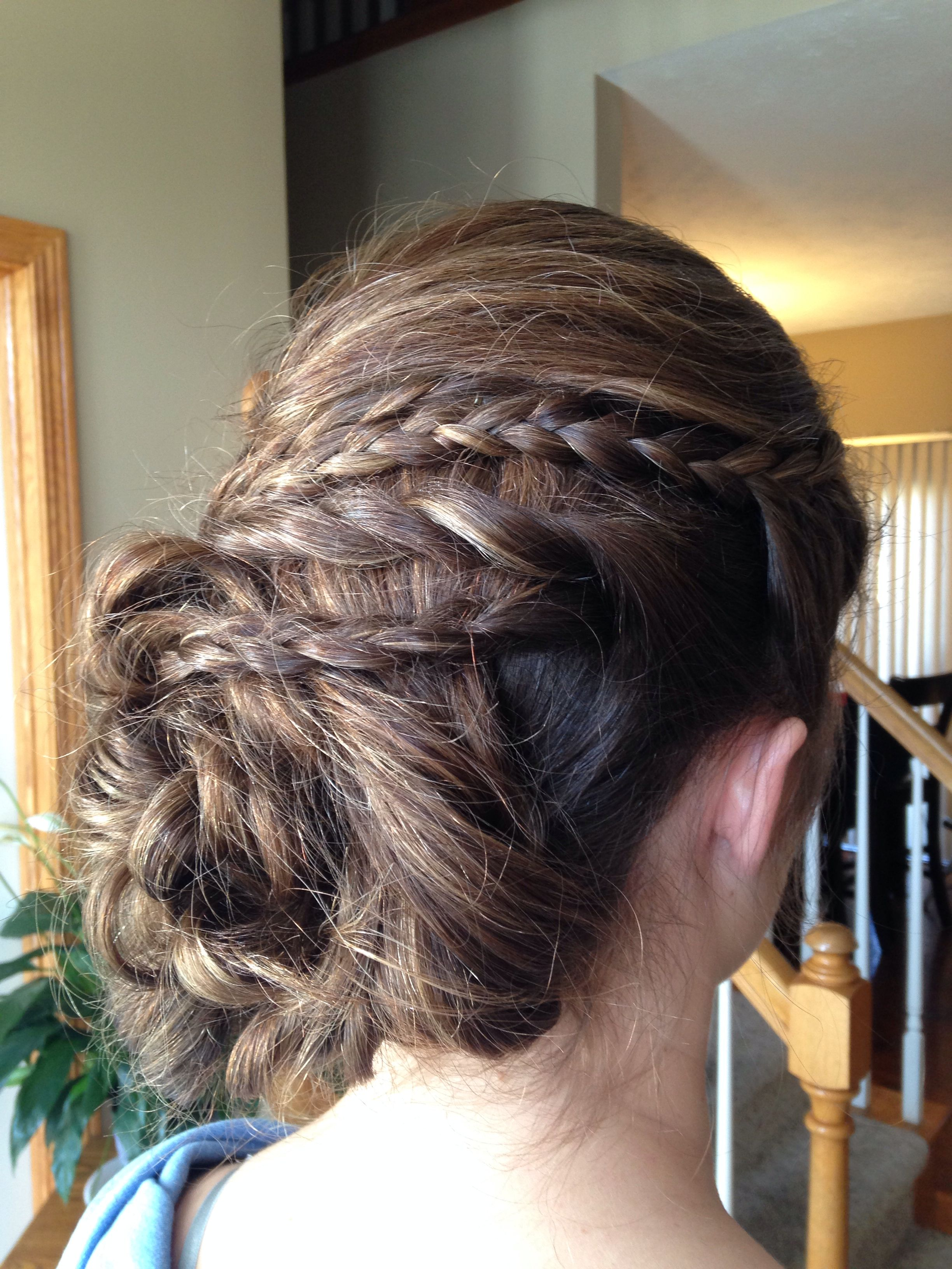 Side updo with twits and braids hair pinterest updo