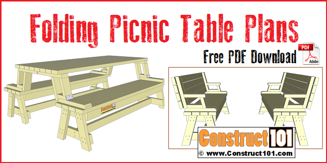 Folding Easy Plans Picnic Build To Table ProjectsBricolage deCxBroW