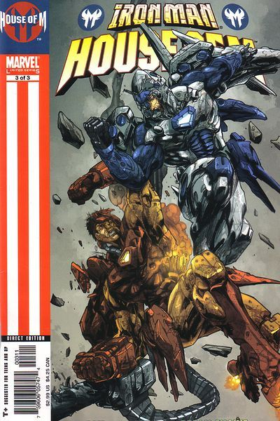 Iron Man: House of M # 3 by Pat Lee