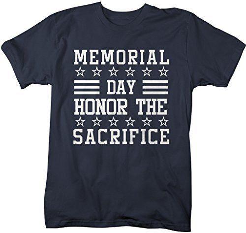 Shirts By Sarah Men's Memorial Day T-Shirt Honor Sacrfice Shirts