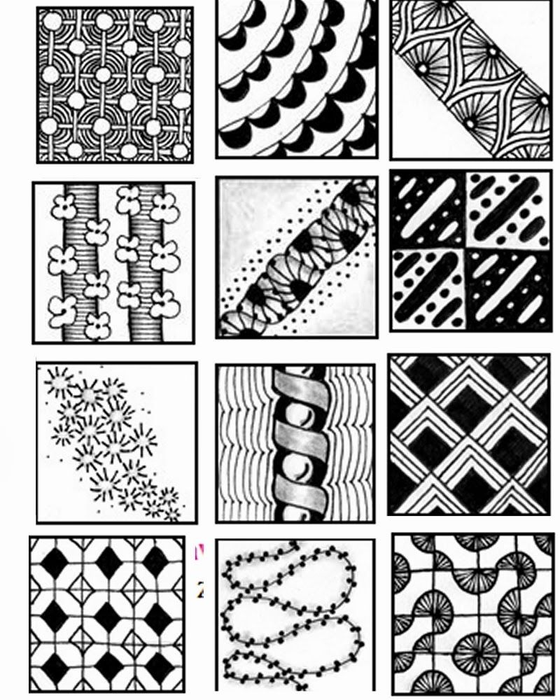 Zentangle Patterns Easy Best Decoration
