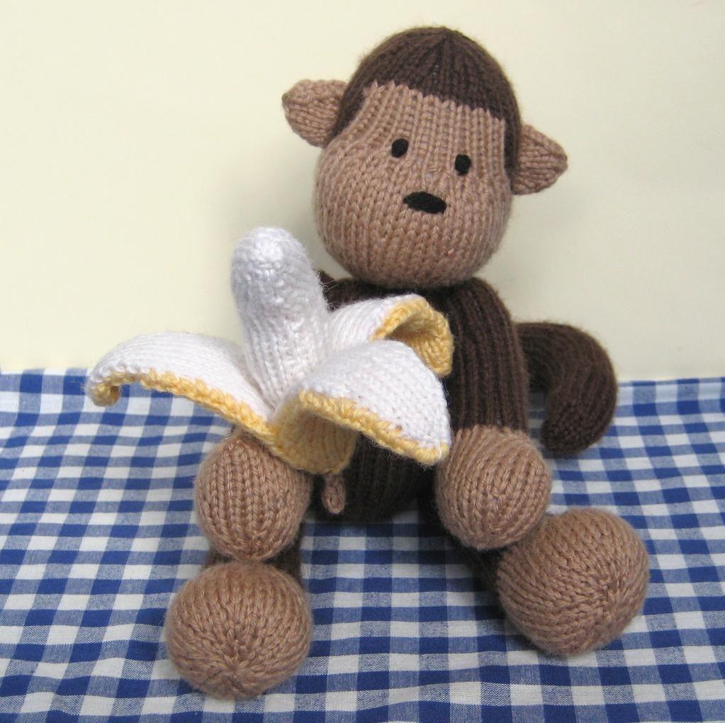 Norwood Monkey and Bananas toys to knit