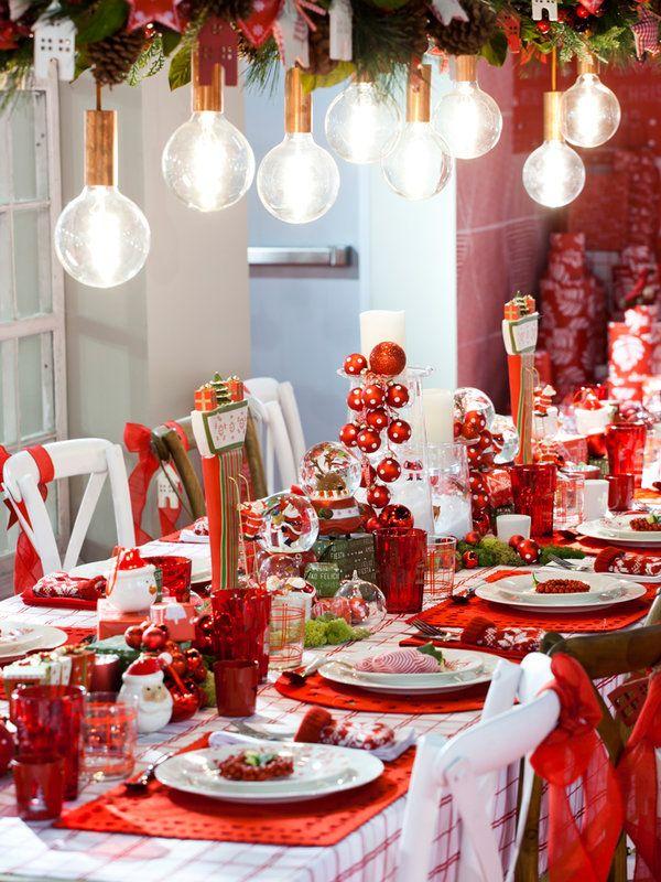 Mesas vestidas de fiesta mesas fiestas y baby shower - Decoracion mesas navidenas ...