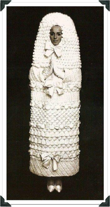 Yves Saint Lau S Crochet Wedding Dress Looks Like A Sarcophagus