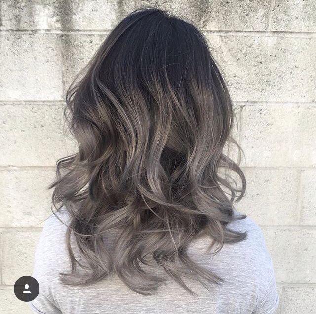Grey Ombre Hair Styles Grey Ombre Hair Balayage Hair