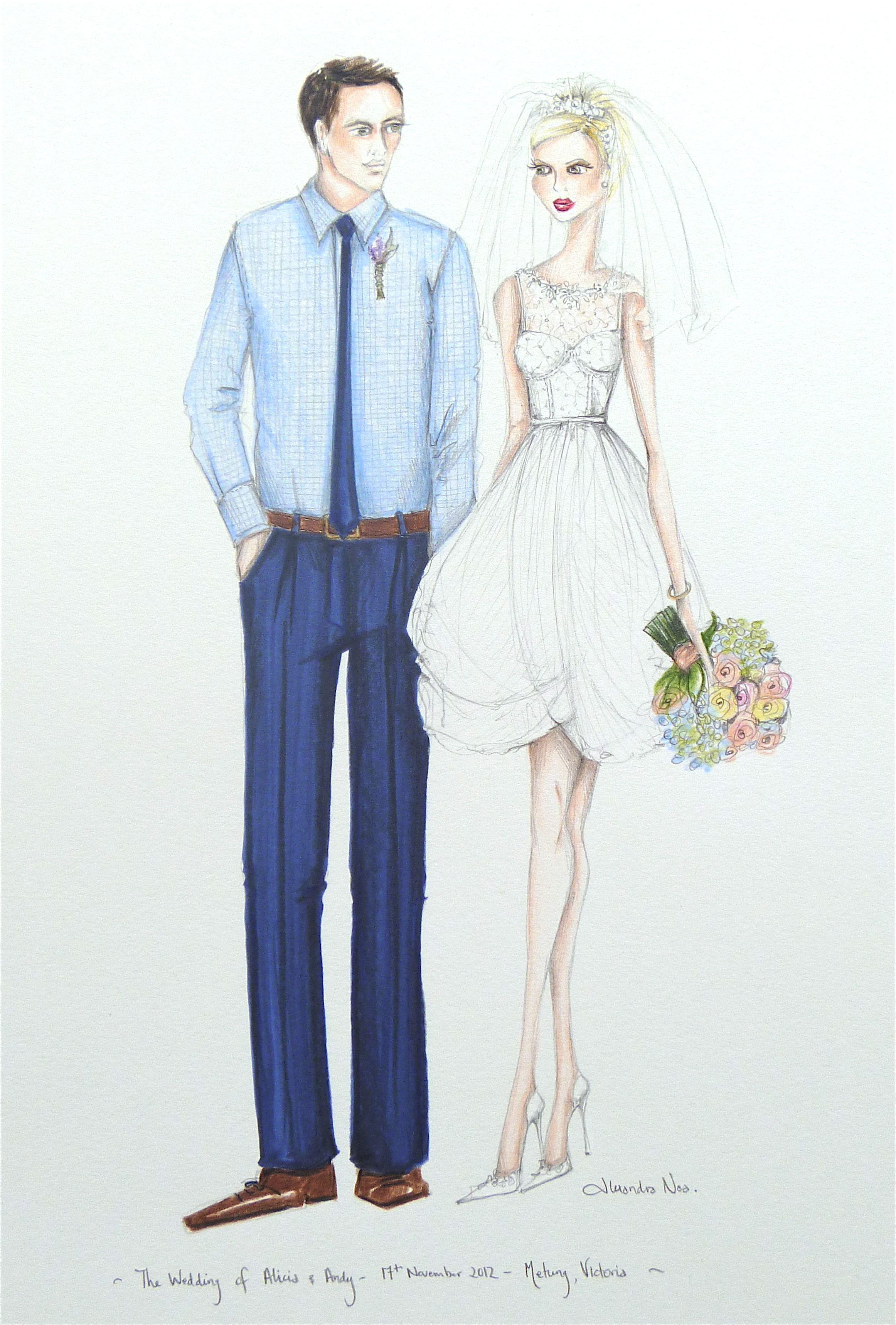Alicia and Andy's retro wedding