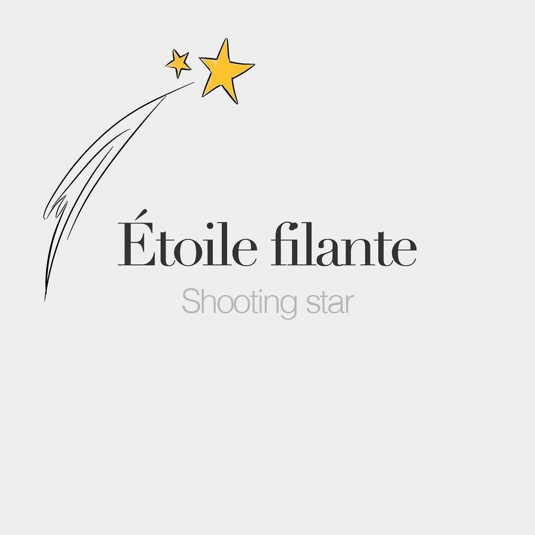 étoile Filante Feminine Word Shooting Star Etwal Fi