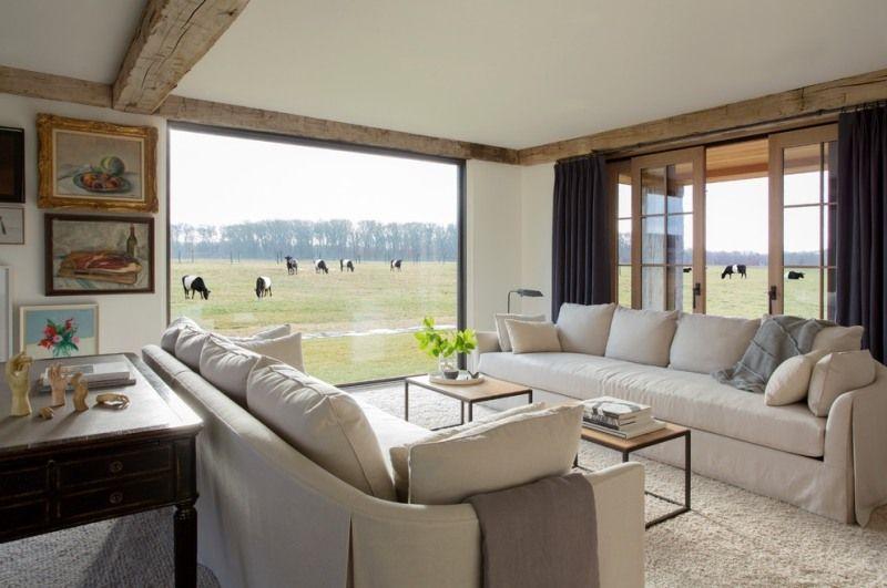 Meubles bois massif et décoration de style rustique moderne Salons - decoration de salon moderne