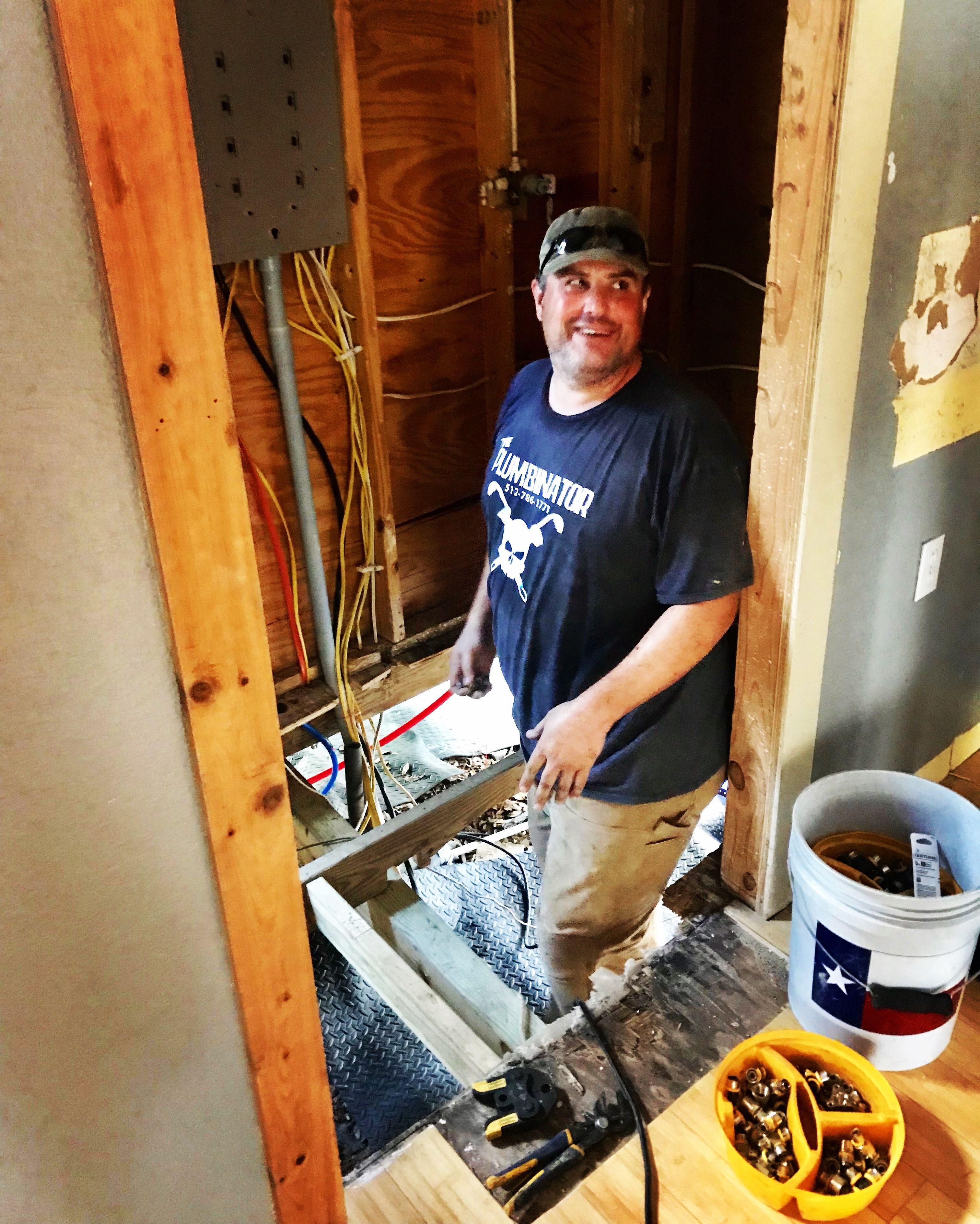 Plumbing Apprentice Shad Is Most Happy When He S Downinahole D Plumbing Plumber Atx Plumbing Local Plumbers Plumber