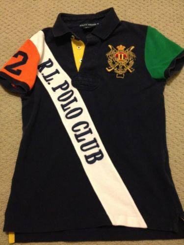 Ralph Lauren Womens Polo Shirt RL Polo Club Bleeker Medium M Rugby ... d00b3d5e1e