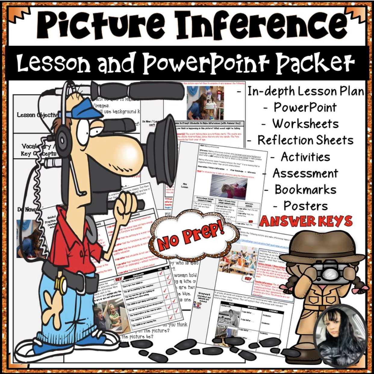 Inference Picture Lesson Plan Powerpoint Worksheets And