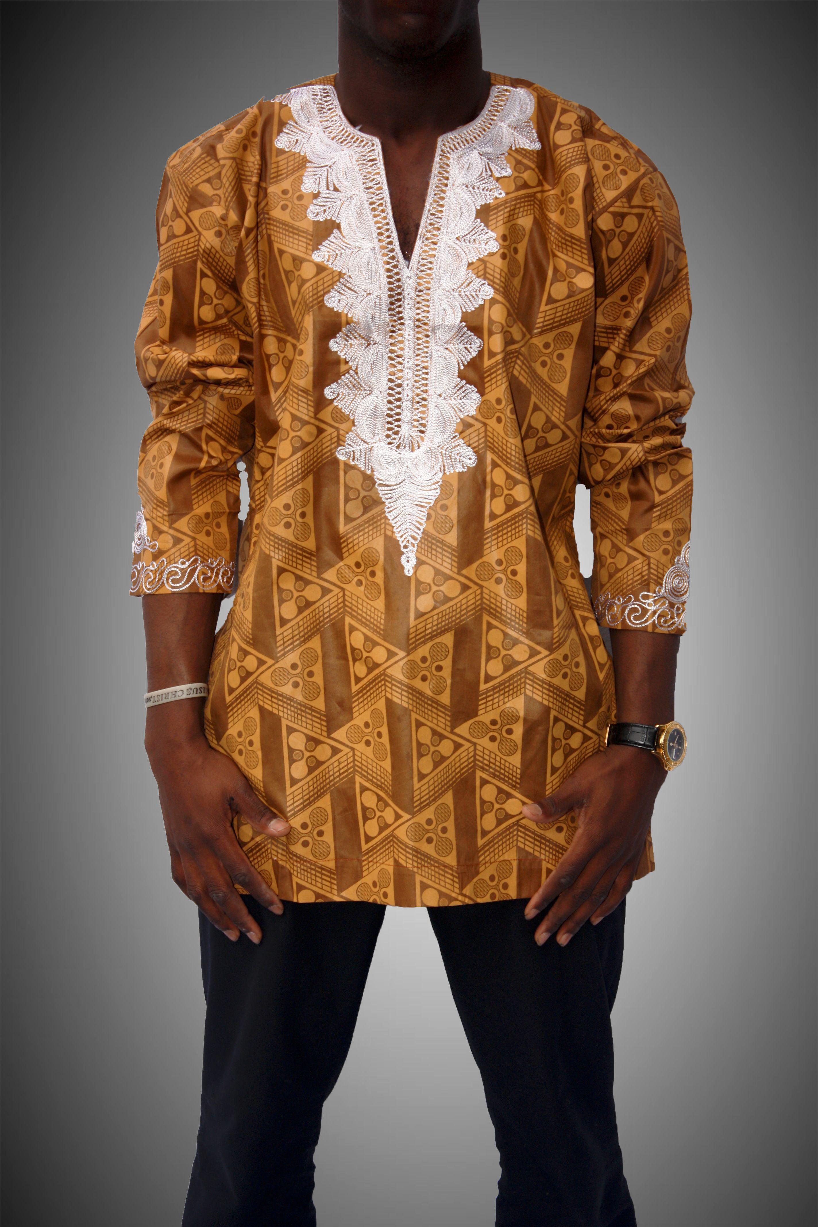 Shirt design of man - African Men Shirt Ms14013 Chimzi Fashion House