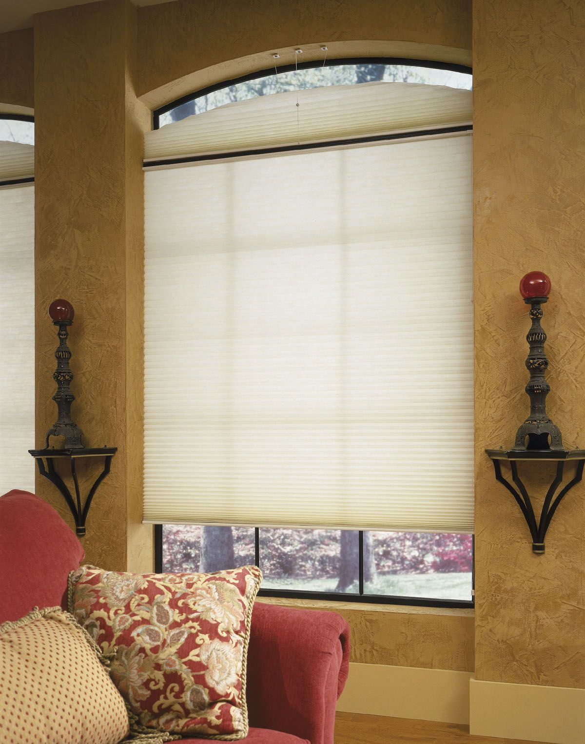 Eyebrow window coverings  these are our most popular movable cellular shade they are very