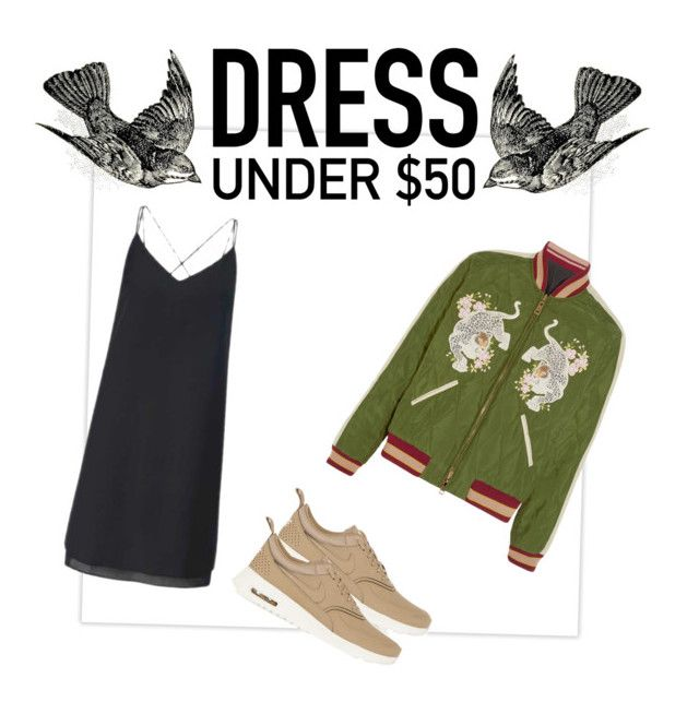 """""""Under 50$"""" by veronicalimanskayaa ❤ liked on Polyvore featuring Miss Selfridge, NIKE and Dressunder50"""