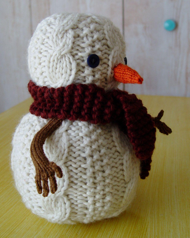 Snowman knitting pattern PDF | Christmas knitting patterns ...