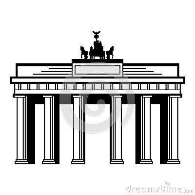 Brandenburg Gate Drawings Google Search Architecture Brandenburg Gate Home Decor