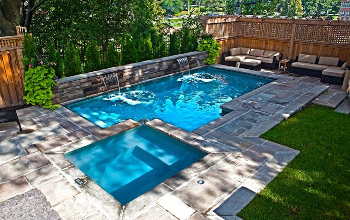 25 best ideas for backyard pools backyard backyard pool for Pool ideas for small backyard