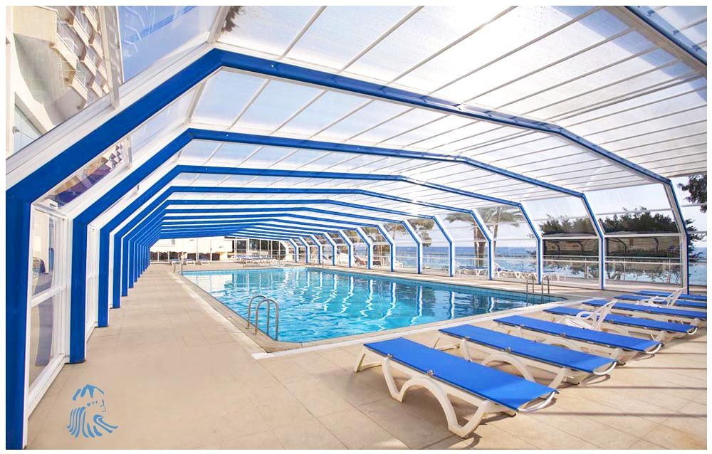 Covered Swimming Pool during the Cooler Months at Poseidonia Beach Hotel in Limassol Cyprus