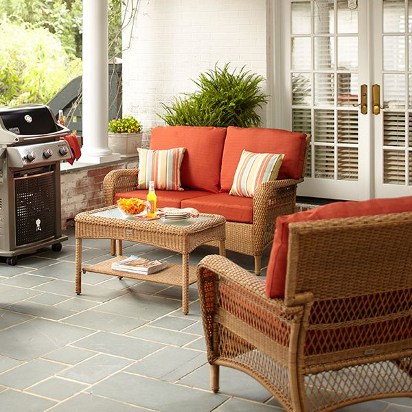 Martha Stewart Living™ Charlottetown Natural All-Weather ... on Martha Stewart Wicker Patio Set id=81743