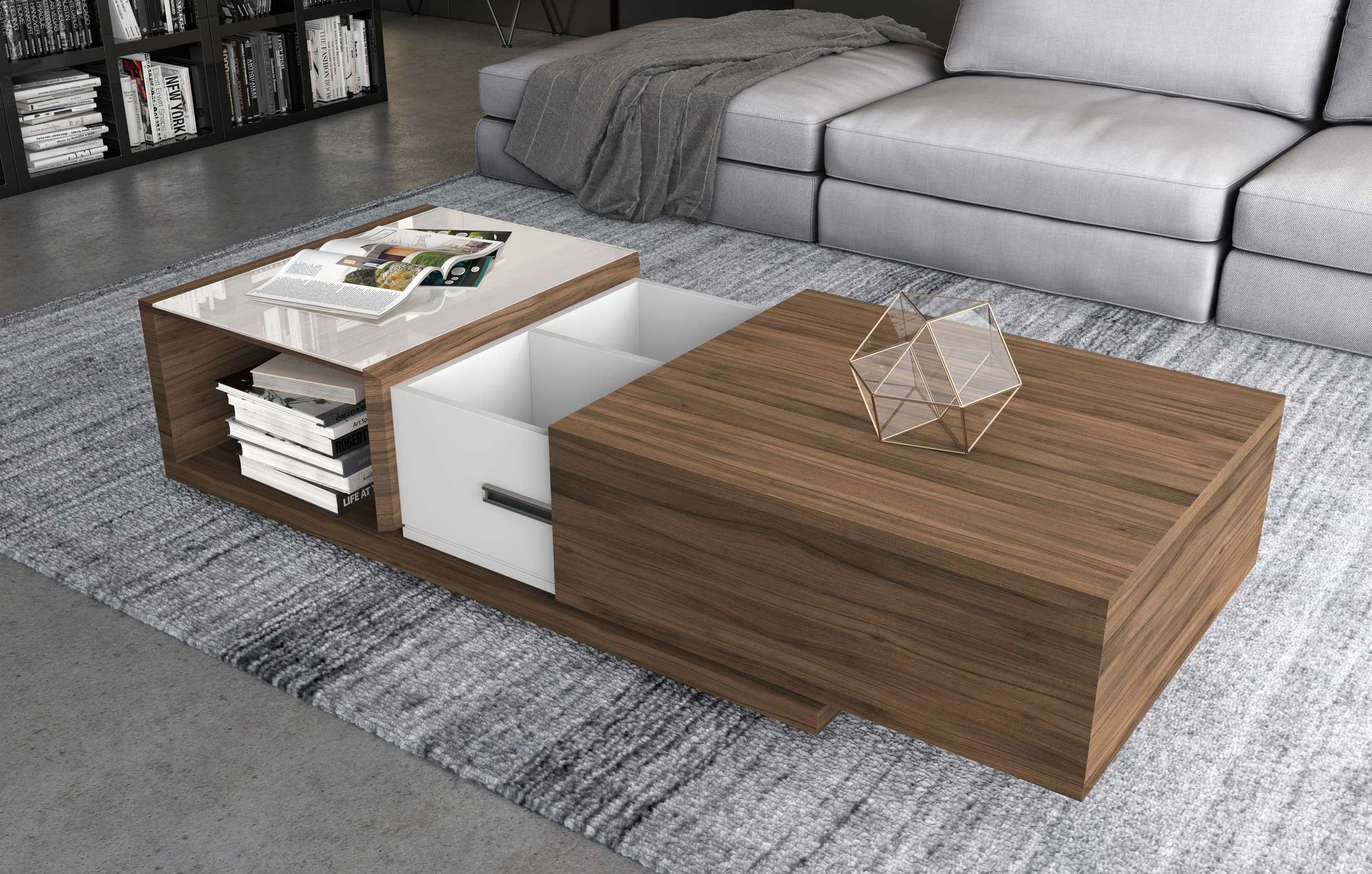 Truman Coffee Table Coffee Table Living Room Coffee Table Cheap Apartment Decorating [ 1396 x 2190 Pixel ]