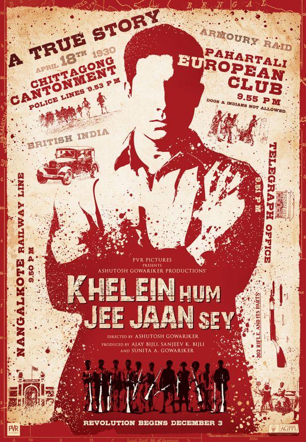 Khelein Hum Jee Jaan Sey Keyart By Vivek Mandrekar Via Behance Adventure Film True Stories Poster