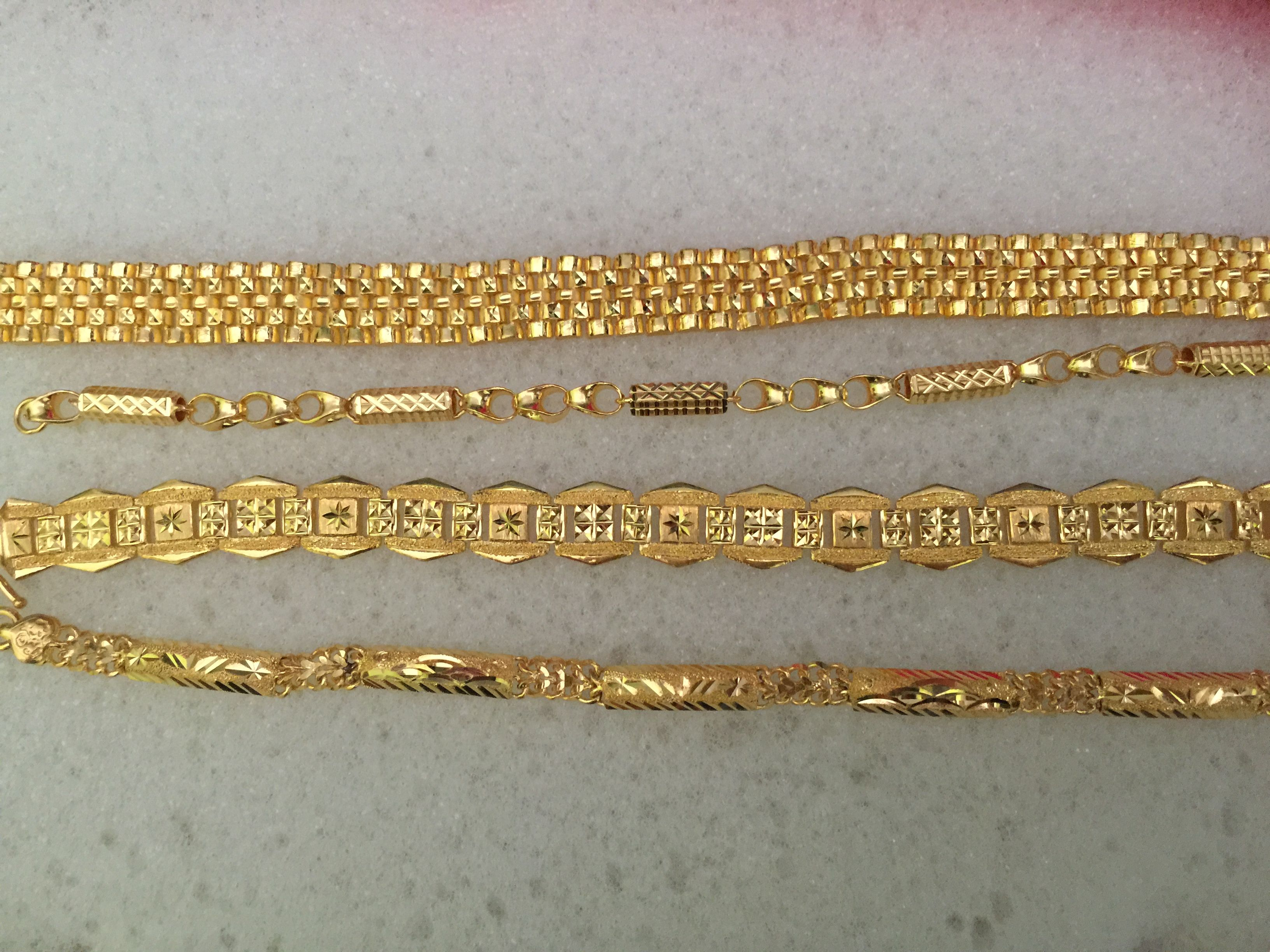 24k Gold Hong Kong Orted Bracelets
