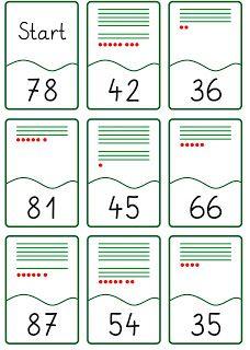 lesespiel zahldarstellung bis 100 zahlen bis 100 darstellen montessori math 2nd grade. Black Bedroom Furniture Sets. Home Design Ideas