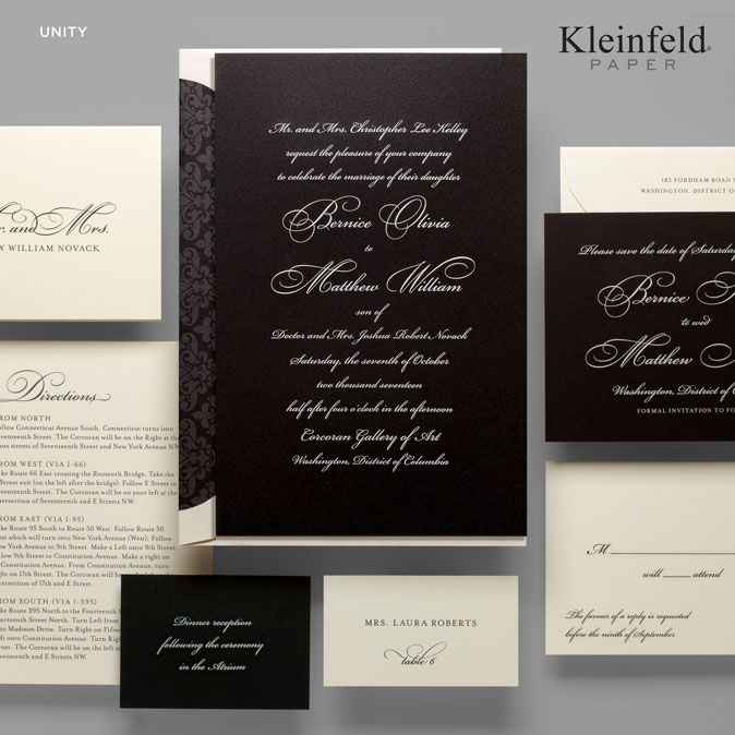 Kleinfeld Paper Unity collection combines traditional script font - best of wedding invitation design fonts