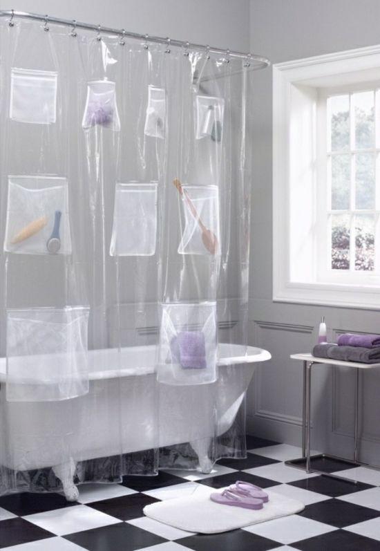 Dusch Vorhang schön dekorieren – originelle Ideen zum Selbermachen ...