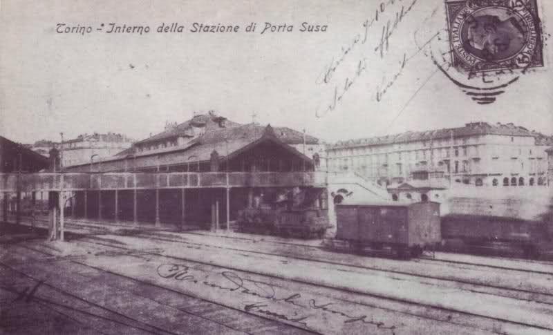 Interno della stazione di porta susa 1910 http www - Stazione treni torino porta susa ...