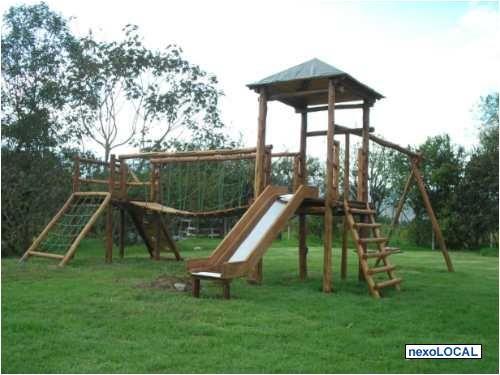 Juegos infantiles de madera para jardin buscar con for Parque infantil jardin