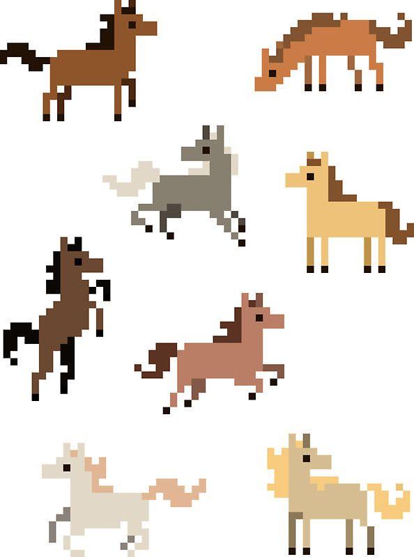Pixelated Horses