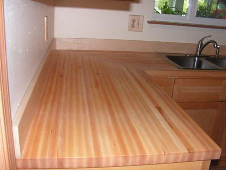 Maple Butcher Block Countertop Our Wood Countertops Have A Creamy White To