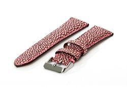 Universele horlogeband 20mm roze roggenleer (extra dik)