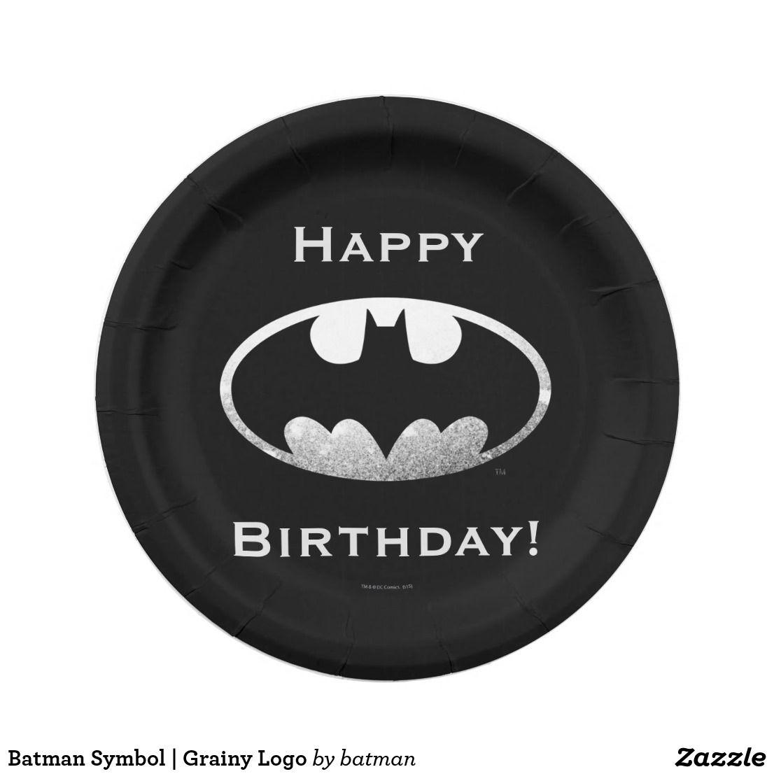 Batman symbol grainy logo paper plate symbols and shopping batman symbol grainy logo paper plate buycottarizona