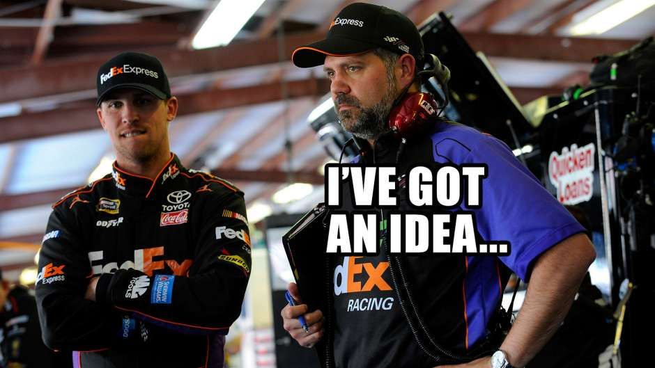 Photos NASCAR_Wonka investigates Darian Grubb's